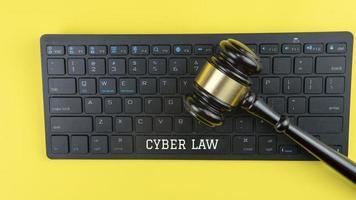 concepto de tecnología legal de ley. foto