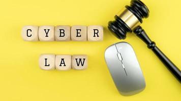 Law legal technology concept. photo