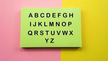 letra del texto del alfabeto foto