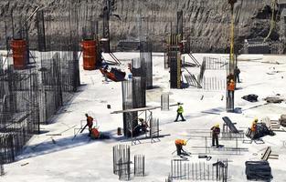 Construction Building Area Industrial Concept photo