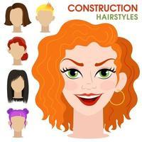 Woman face constructor. vector