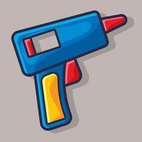 pistola de pegamento aislado ilustración de dibujos animados en estilo plano vector