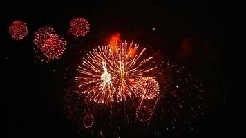 Exciting Firework with Sound Footage video