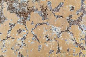 Fondo de textura de pared de hormigón de grieta de pintura. foto
