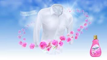 acondicionador de telas fragancia de larga duración vector