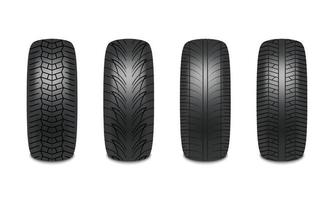 Car tires realistic design isolated on white background vector