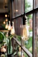 hermosa decoración de la lámpara de luz foto