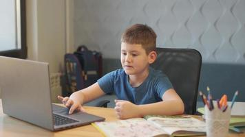Back to School, Online learning, distance lesson, education at home, technology for schoolboy, business conference. photo