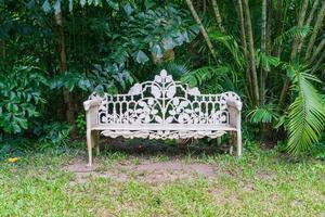 Old bench in park - vintage effect filter photo