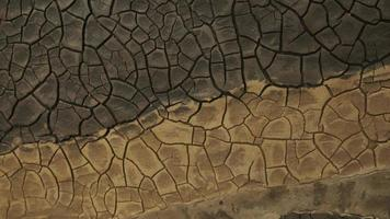 cracked soil in a desert drying out, timelapse. global climate change and drought. time lapse evaporation from soil. dry, cracked earth. increased temperatures, global warming photo