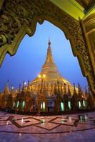 pagoda in Myanmar in the rain photo