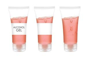 alcohol gel for hand wash on white background photo