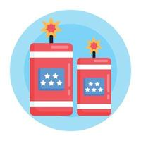 Firecrackers and celebration vector