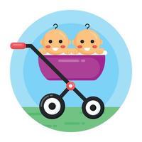 Babies Stroller Pram vector