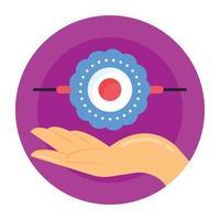 banda rakhi y pulsera vector