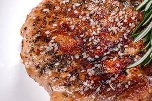 Fresh delicious juicy steak on the bones photo