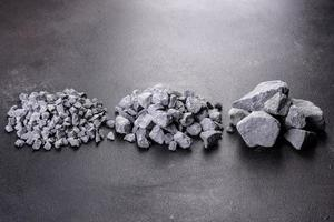 Crushed stone abstract textured background photo