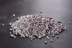Fondo de textura abstracta de piedra triturada foto
