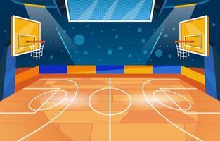 Modern Basketball Court vector