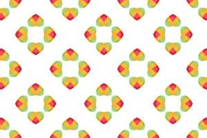 Pattern Bright gradient heart gift tower paper background Vector