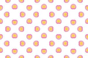 Pattern Heart in pink gradient for gift wrapping paper. vector