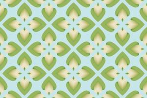 Abstract Pattern flower petals gradient green white Vector
