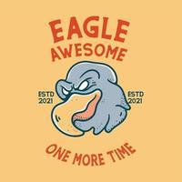 Eagle With Skull Illustration character vintage design for t shirts vector