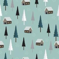 Seamless simple and elegant Christmas pattern background vector