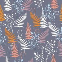 Abstract autumn leaves surface pattern seamless background vector