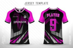 Sports jersey and t-shirt template sports jersey design vector mockup.