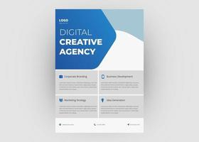 Business agency flyer template vector
