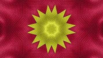 patrones simétricos, animación de bucle sin interrupción de caleidoscopio de vj fractal. video