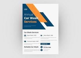 Car wash flyer template design vector