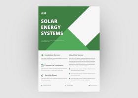 plantilla de volante de energía solar vector