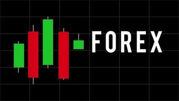 animation de bâtons de bougie de graphique de trading forex sur fond noir video