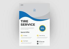 Tire service flyer template vector