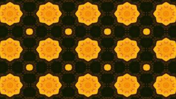 Beautiful Yellow Flower Kaleidoscope Background Effect video
