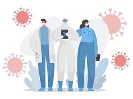 evitar que los médicos y enfermeras de Covid luchen contra el virus vector
