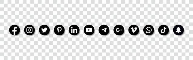 Social media logo collection Free Vector Design Editable EPS 1