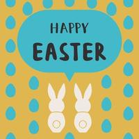Happy Easter greeting card template, design vector illustration