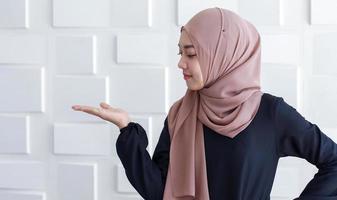 Portraits muslim woman in hijab photo