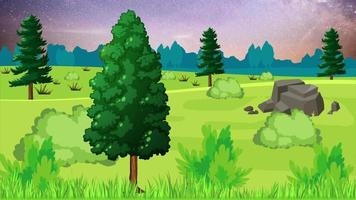 hermosa y silenciosa llanura verde en la noche video