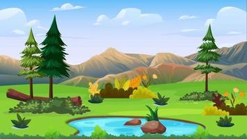 el pequeño pantano en medio de la llanura verde video