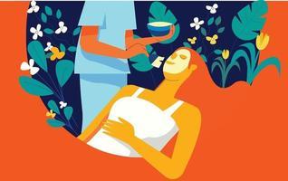 Spa beauty treatment illustration concept vector