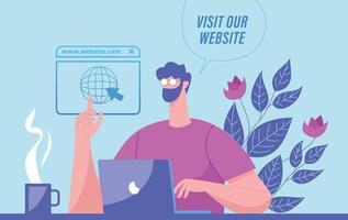 Visit our website illustration concept vector