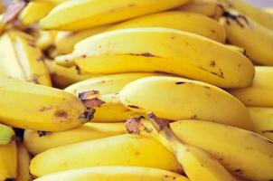 Tropical ripe Banana selling in the market photo
