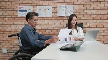 Business Disability Meeting with Female Manager video