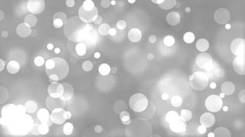 White Circle Particles Bokeh Light Background video