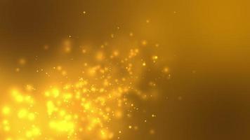 Gold Circle Bokeh Light Background video