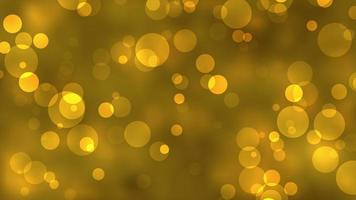 Gold Circle Particles Bokeh Light Background video
